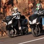 הונדה SW T600 מול סוזוקי בורגמן 650EXEC – מבחן השוואתי מ-2011